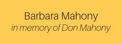 Barbara Mahony, in memory of Don Mahony